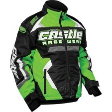 Castle X Youth Boys Bolt G3 Green Snowmobile Jacket  size Small Arctic Cat