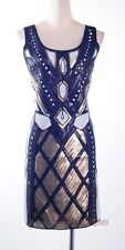 1920's Art deco Brown Gatsby Downton Abbey Sequin Nouveau Flapper Dress RR 4002
