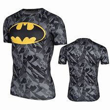 Superhero Marvel Batman Cycling Costume Men T-Shirts Short Sleeve Bicycle Jersey