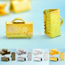 30g Iron Ribbon Necklace Cord Tips Clip Clamp Bead Ends 10/13/16mm