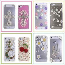iPhone 5 5S Case, G1 Luxury 3D Diamond Crystal Bling Hard Case Cover + Film