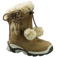 GIRLS HI-TEC THERMAL WATERPROOF BOOTS SIZE UK 13 - 3 SNOW WINTER HONEY VAIL LACE
