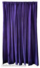 213.4cm H Solid Purple Bedroom/Living Room Velvet Curtain Drapes Panel w/Rod