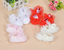 New Baby Girls Satin Christening Shoes Pink Red White Yellow Ivory 0 3 6 9 Month