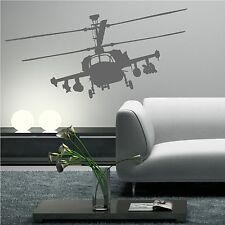 APACHE HELICOPTER WAR GUN SHIP ARMY wall stickers decals mural stencils transfer