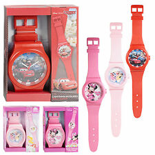 Kids Disney Wall Clock Wrist Watch Style Strap 92 cm Hanging Quartz Bedroom Gift