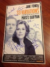33 VARIATIONS CAST SIGNED THEATER POSTER JANE FONDA HANKS GRENIER MATHIS