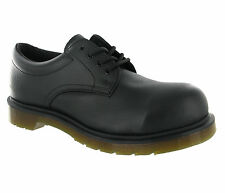 Mens Dr.Martens Steel Toe Cap saftey Black 4 Eye Leather Formal Shoes Size 6-13