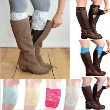9 colors Stretch Lace Boot Cuffs Flower Leg Warmers Lace Trim Toppers Socks