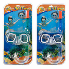 7 - 14 Years Bestway Snorkel Mask Swimming Diving Junior Snorkelling Set Goggles