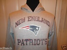 New with Tag Distressed Style Youth Sizes New England Patriots Hooded Sweatshirt