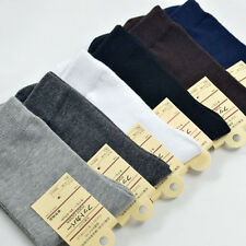 6/12Pairs Men Solid Business Cotton Socks Breathable Absorbent Socks Free Size