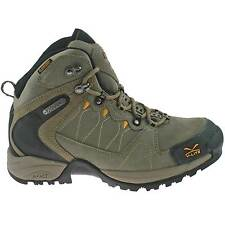 MENS HI-TEC WATERPROOF HIKING BOOTS SIZE UK 7 - 12 WALKING BUXTON MID BROWN