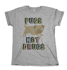 Pugs Not Drugs Funny Dog Mens & Ladies Unisex Fit T-shirt