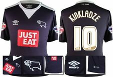 *15 / 16 - UMBRO ; DERBY COUNTY AWAY SHIRT SS + PATCHES / KINKLADZE 10 = SIZE*