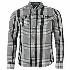 Lee Cooper Mens Long Sleeve Check Shirt Casual Everyday Clothing Top Wear