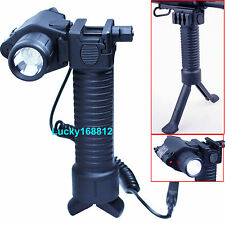 Tactical Rifle Foldable Foregrip Bipod / Red Laser Sight /CREE LED Flashlight #2