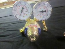 "PROFESSIONAL BRASS 2"" DIAMETER DUAL GAUGES ~ OXYGEN ~ REGULATOR FOR WELDING KIT"