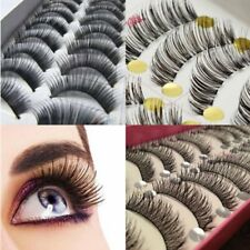 10 Pairs Handmade Makeup Natural False Thick Eyelashes Long Eye Lashes Extension
