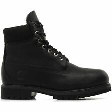 Timberland Anti Fatigue Black Leather Mens 6 Inch Premium Waterproof Boots
