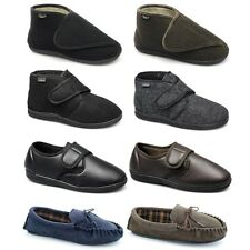 Mens Comfy Velcro Slip On Cosy Warm Winter Christmas Moccasin House Slippers
