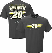 2016 MATT KENSETH #20 FAN UP CHARCOAL SHORT SLEEVE NASCAR TEE SHIRT