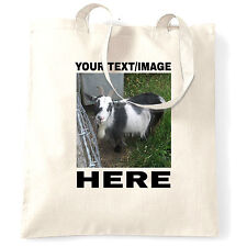 Your Image Photo Picture Here Custom Personalised Printed Tote Bag