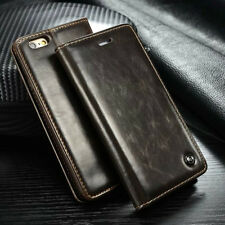 Glossy Leather Case Magnetic Card Holder Wallet Cover For Various Mobile Phones