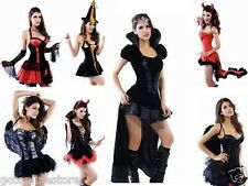 Sexy Hot Women Halloween Party Devil Pirate Vampire Fancy Dress Outfit Costume