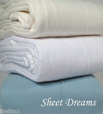 Peacock Alley Portugal 6 oz Double Sheared Heavy 100% Cotton Flannel Sheet Set