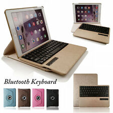 Stand 360 Rotating PU leather Case Cover With Bluetooth Keyboard Ipad Air Ipad 5