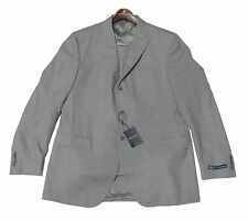 $1,550 Polo Ralph Lauren Mens Italy Grey Solid 3 Button Wool Suit 44R 46R 46L