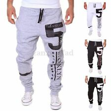 PODOM Mens Training Sport Cuff Sweat Pants Tracksuit Bottoms Jogging Trousers