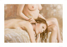 EROTIC ART FEMALE NUDE PORTRAIT. SIGNED A4 or A3 PRINT by JOHN SILVER. FI016SP