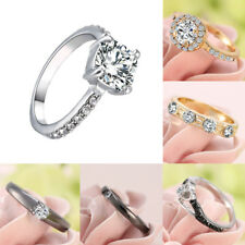 #8 Handmade Beauty Women Sapphire Crystal CZ Wedding Engagement Ring New Jewelry
