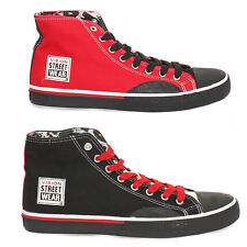 Vision Street Wear Canvas Hi Men's Sneakers Casual Shoes Black Red