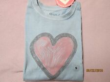 LIFE IS GOOD Girl's Heart Sketch L/S Tee Shirt (S) NWT