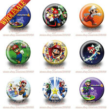 Free Shipping 9PCS Super Mario Bros Buttons pins badges,brooch badges 30mm Gifts