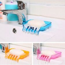 Fashion Water Drain Soap Dish Suction Cup Soap Tray Bath Organizer Soap Holder
