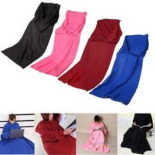 Fashion Home Winter Soft Warm Fleece Snuggie Blanket Robe Cloak With Sleeves
