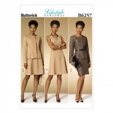 Butterick Ladies Easy Sewing Pattern 6257 Jacket, Dress & Skirt Suit (But...