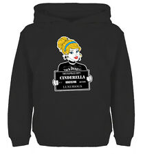 Disney Cinderella Tattoo Holding Card Crime Sweatshirt Boys Girls Hoodie
