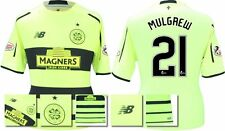 *15 / 16 - NEW BALANCE ; CELTIC 3rd KIT SHIRT SS + PATCHES / MULGREW 21 = SIZE*