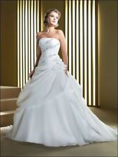 New white/ivory Wedding Dress Bridal Gown custom size 4-6-8-10-12-14-16-18-20+