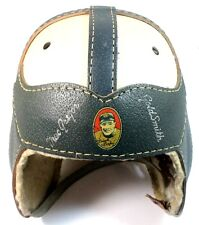 1950's MacGregor Goldsmith Frank Leahy Notre Dame Leather Helmet Near Mint D1