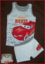 DISNEY CARS 2 pc Underwear Set UNDIES & VEST / TRUNKS & TANK  Sz 5 or 6  McQueen