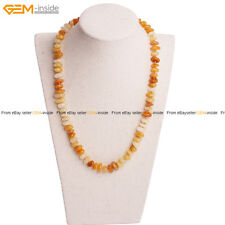 Natural Yellow Jade Gemstone Finished Jewelry Gift Necklace Gem-inside Hot Sale