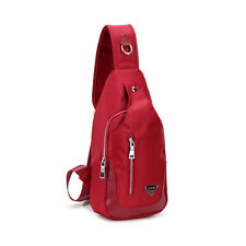 New Unisex Oxford Chest Bag Shoulder Sling Hiking Bicycle Unbalance Backpack Red