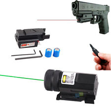 Mini Red/Green Dot Laser Sight with 20mm Picatinny Rail for Pistol Gun Tactical