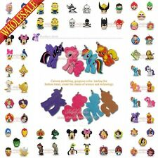 Mixed 100pcs Little Pony 2D Keychains Necklaces Cellphone Pendants Charms  Gifts